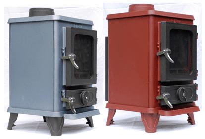 Hobbit-small-wood-burning-stove-colors Tiny Wood Stove - Small Wood Burning Stove WB Designs