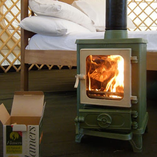 Hobbit Stove in Yurt - Inspiration Tiny Wood Stove
