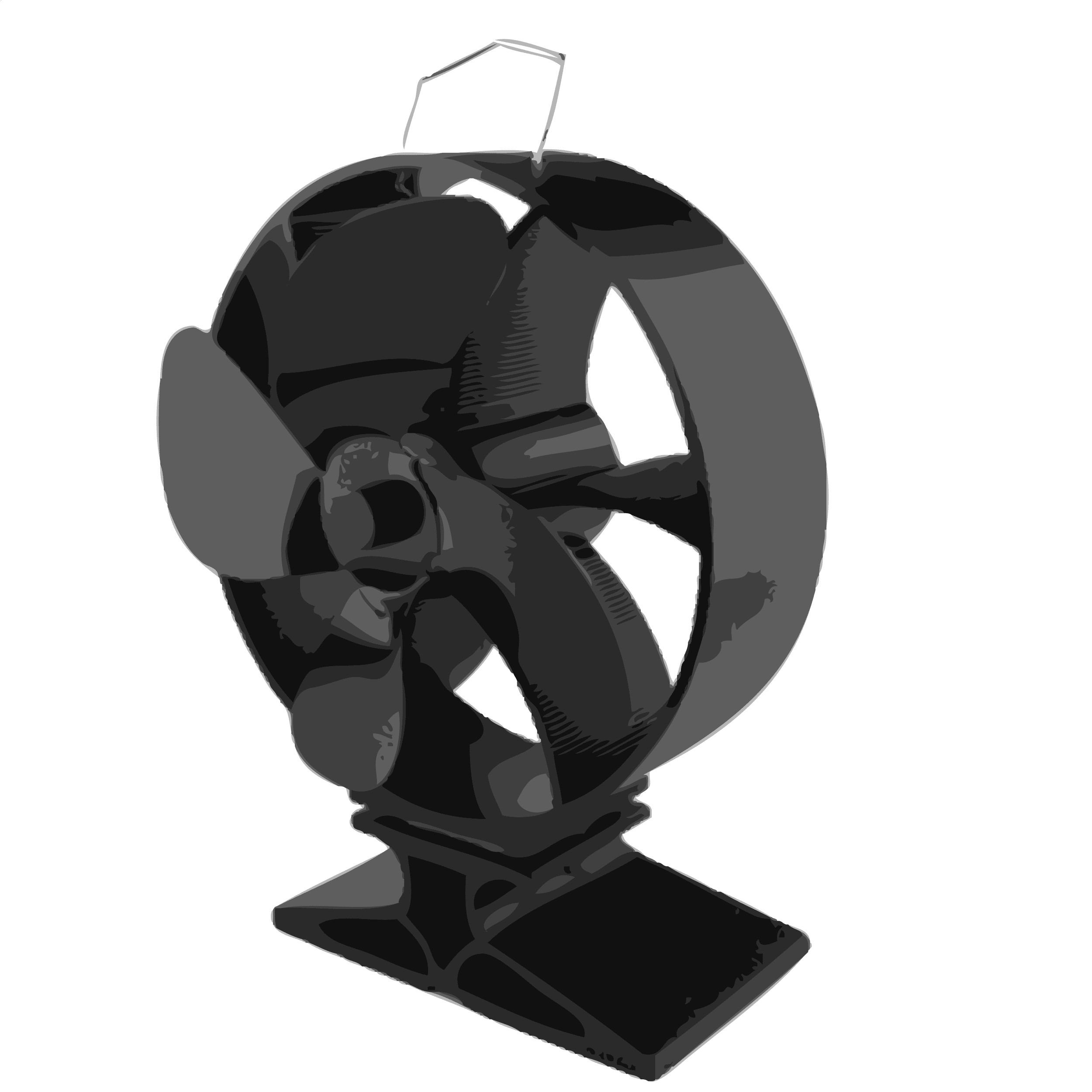 Heat powered fans for wood stoves - Heat Powered Stove Fan 260cfm