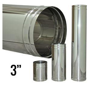 3 Stainless Steel Flue Pipe Tiny Wood Stove