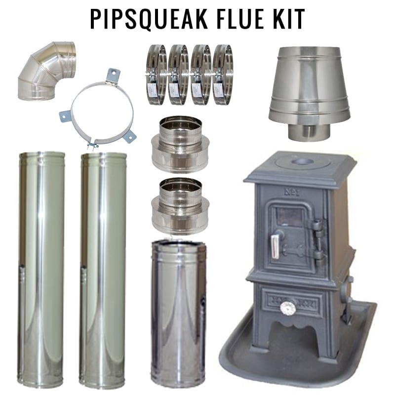 Pipsqueak Flue Kit Tiny Wood Stove