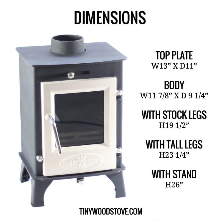 ... dwarf dimensions ... - SMALL STOVE: The Dwarf 4kw Tiny Wood Stove
