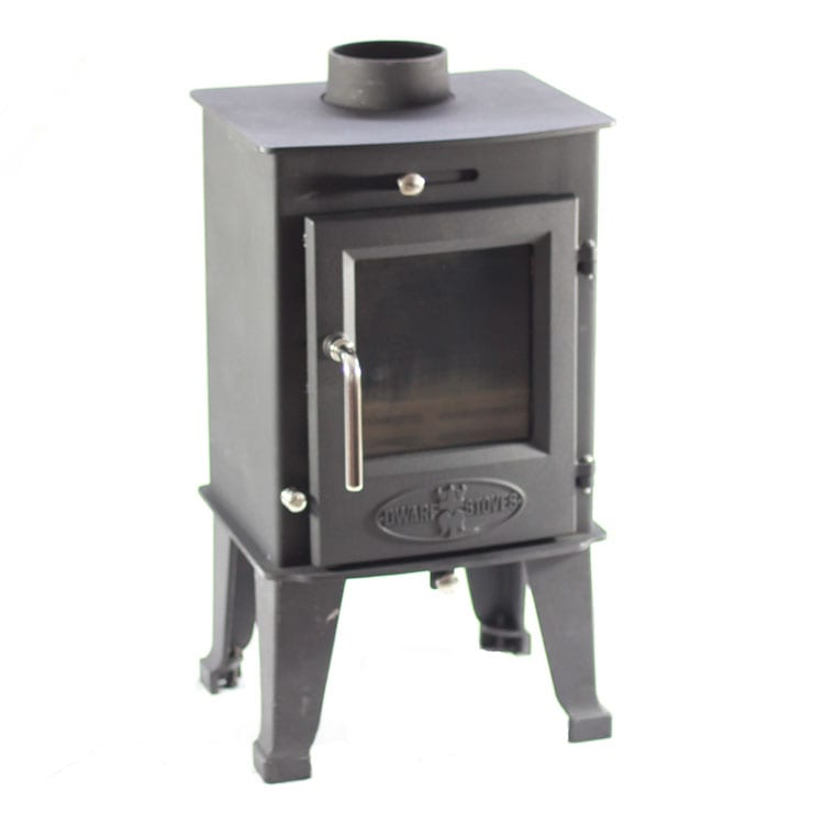 ... Optional Tall Cast Iron Legs Optional Wood ... - SMALL STOVE: The Dwarf 4kw Tiny Wood Stove